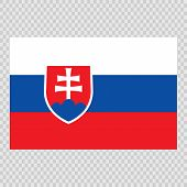 Slovakia Flag. Brush Painted Slovakia Flag. Hand Drawn Style Illustration With A Grunge Effect And W poster