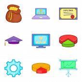 Survey Icons Set. Cartoon Set Of 9 Survey Icons For Web Isolated On White Background poster