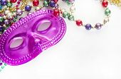 Masquerade mask on beads