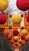 chinesischen Mondneujahr Dekorationen Beijing china