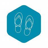 Flip Flop Sandals Icon. Outline Illustration Of Flip Flop Sandals Vector Icon For Web Design poster