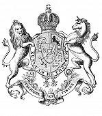 das alte Wappen von Hannover (Deutschland). Stich von Alwin Zschiesche veröffentlicht am