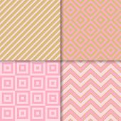 Classic Geometric Patterns Vector Set. Textile Fabric Prints, Geometric Background Patterns With Dia poster