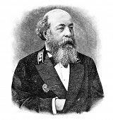 Portrait of the director of the Mining institute Vorontsov. Engraving on steel by Shubler. Published in magazine