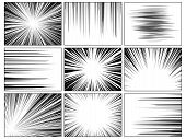 Radial Comics Lines. Comic Book Speed Horizontal Line Cover Speed Texture Action Ray Explosion Hero  poster
