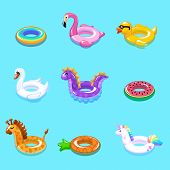 Swimming Rings. Inflatable Float Buoy Kid Toys Float Ring Lifebuoy Rescue Belt Duck Beach Pool Swim  poster