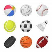 Ball Games. Sports Kids Ball Volleyball Baseball Tennis Football Soccer Bambinton Hockey Basketball  poster