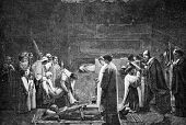 picture of catacombs  - Christian martyrs in the catacombs - JPG