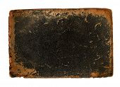 Antique book cover leather with rough worn edges