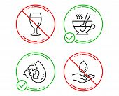 Do Or Stop. Recycle Water, Beer Glass And Tea Cup Icons Simple Set. Water Care Sign. Refill Aqua, Br poster