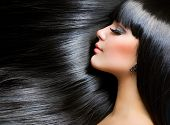 picture of hair cutting  - Beautiful Brunette Girl - JPG