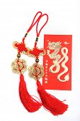 Chinese New Year Decoration--Dragon and red bag knot