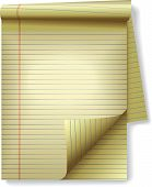 image of stenography  - Pages of legal ruled notebook pad paper  - JPG