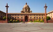 Part Of The President House In Delhi