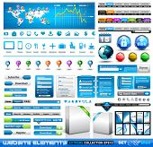Premium infographics and Web stuff  master collection: graphs, histograms, arrows, chart, 3D globe,