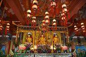 image of lantau island  - Interior of the Po Lin monastery on Lantau Island  - JPG