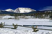 Kenosha Pass In Colorado During Winter