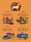 Pet Care Supply Funny Poster Petsshop Advertising Bookmark With Dog Kennel Vector Illustration. Anim poster