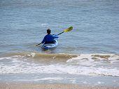 Kayaking On Ocean