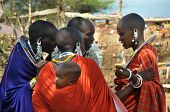 OLDUVAI GORGE, TANZANIA, DECEMBER 23, 2011 Masai women talking to each other