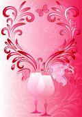 Marco de color rosa de San Valentín