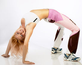 image of athletic woman  - attractive fitness woman - JPG