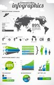 Communication infographics design elements - smartphone information graphics, charts, graphs and oth