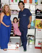 LOS ANGELES - OCT 21:  Christie Lynn Smith, Abby and John Fortson at the baby shower supporting