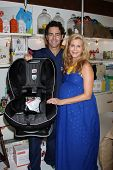 LOS ANGELES - OCT 21:  Christie Lynn Smith, husband John Fortson at the baby shower supporting