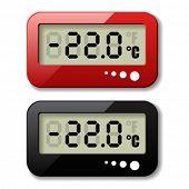 Vector iconos de termómetro digital