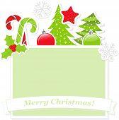 Cute Christmas banner, raster version