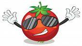 Ilustración de tomate sobre un fondo blanco