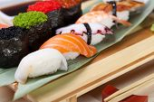 Classic japanese food- sushi on a plate
