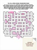 Valentine Day, love, romance, or wedding criss-cross word puzzle