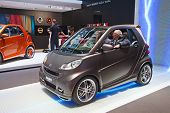 GENEVA - MARCH 8: The Smart forSpeed fully electric concept car on preview at the 81st International