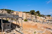 fishing stores in Punta de Sa Pedrera in Formentera, Balearic Islands, Spain