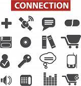 Los iconos de conexión set, vector