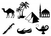 Arabian icons, vector illustration.