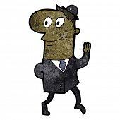 cartoon friendly banker