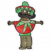 cartoon mexican costume man cartoon
