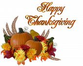 picture of thanksgiving  - Image and Illustration composition for Thanksgiving card invitation border or background - JPG