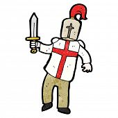 stock photo of arthurian  - cartoon english knight - JPG