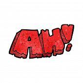 AH! cartoon word
