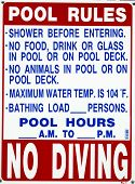 This sign has the pool rules suggested for your safety foto.
