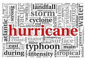 pic of typhoon  - Hurricane concept in word tag cloud on white - JPG