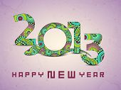 image of chinese new year 2013  - Happy New Year background with 2013 new year symbol snake - JPG