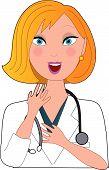 Verpleegkundige Blond verbaasd