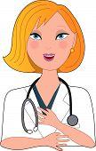 Verpleegkundige Blond praten