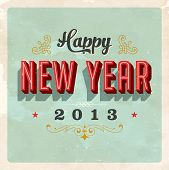 Vintage New Year's Eve Card - Vector EPS10. Grunge effects can be easily removed for a brand new, cl