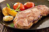 steak in the fry pan